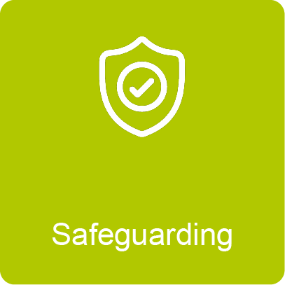 Button link to Safeguarding procedures at the College